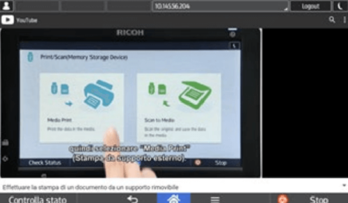 App Video Ricoh autoapprendimento