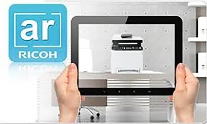 app ricoh AR per realtà aumentata