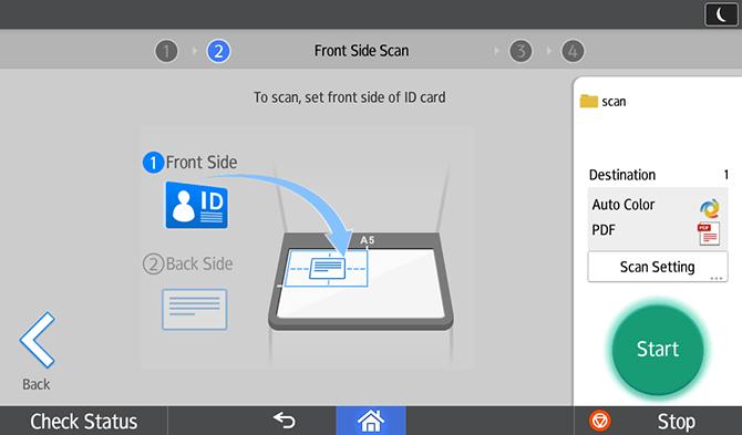 App Ricoh ID Card Scan & Copy